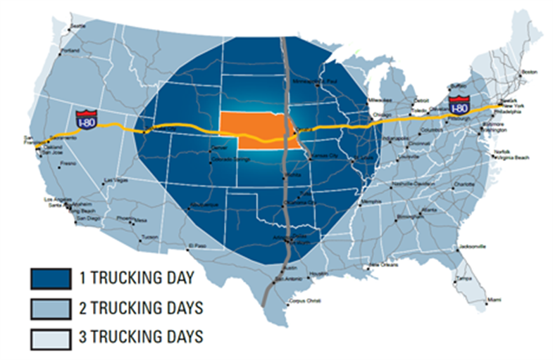Trucking Days Map